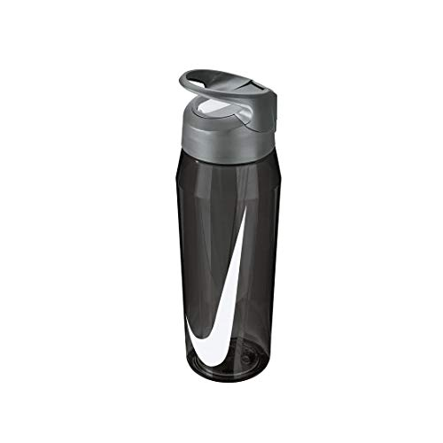 Nike Unisex's Hypercharge - Botella de agua de paja, color antracita/blanco, 32 onzas