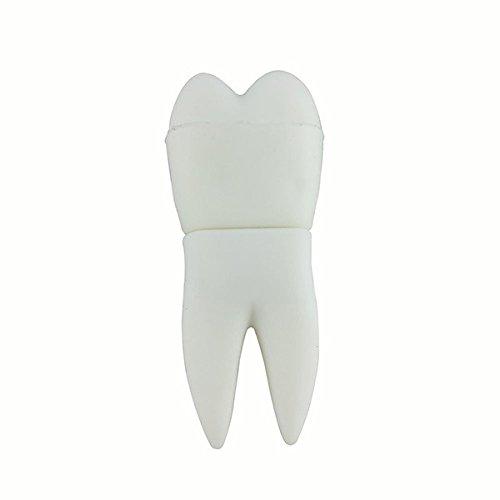 Muela del Juicio 8 GB Dentista Dental - Dentist - Memoria Almacenamiento de Datos – USB Flash Pen Drive Memory Stick - Blanco