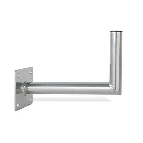 PremiumX 60cm Wandhalter Aluminium extra Große Wandplatte Winkel Halter TÜV L-Wand-Halterung für SAT-Schüssel Satelliten-Antenne Wandabstand 600mm