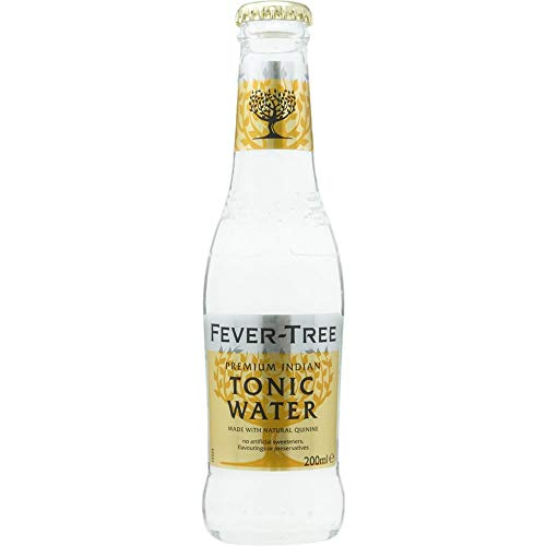 Fever-Tree - Premium Indian Tonic Water, Caja de 24 Botellas 20cl Tónica India, Premium, Sofisticada, en Botellín, Original