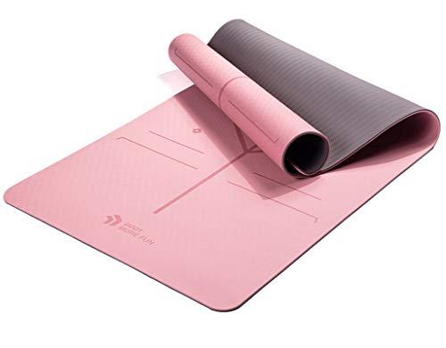 WXXT Colchoneta de Yoga Esterilla Yoga Antideslizante Esterilla de Yoga de 6/8 mm de Grosor Ejercicio Fitness Esterilla de Entrenamiento Muy Conveniente para la Gimnasia Pilates,Gimnasio (183 * 80cm)