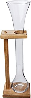 Half Yard Of Ale Glass w/ Wooden Stand, 32 oz by Libbey Glassware