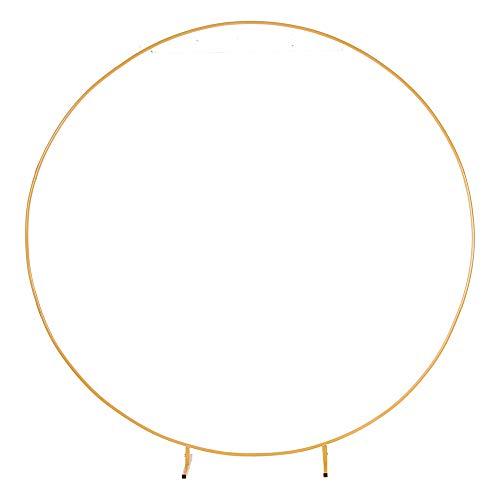 PILIN Kit Arco Palloncino Rotondo in Metallo Dorato Enorme Rimovibile Facile da trasportare e Riutilizzabile Migliore Decorazione per Eventi di Festa (2.2M/7.2FT)