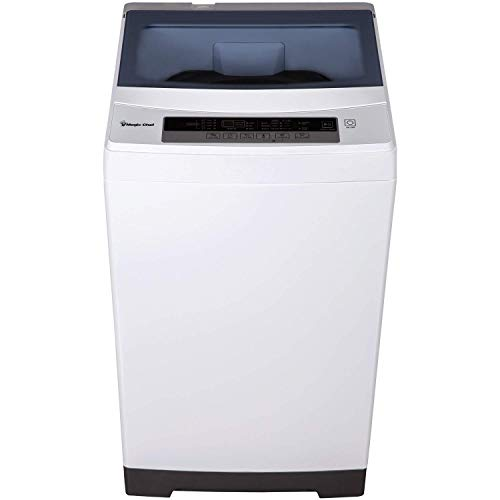 Magic Chef - MCSTCW16W4 Stainless Steel 1.6 Cu. Ft. Compact Top-Load Washer, White