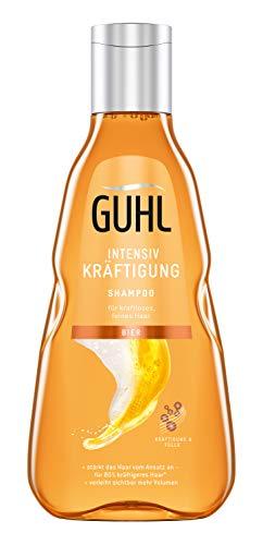 Guhl Shampooing intensif renforcé à la bière pour cheveux fins et sans force 250 ml - renforce les cheveux et leur procure du volume
