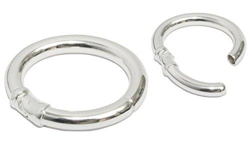 My Home Crystal - Kettenverbinder Oval 925/35AG Silber