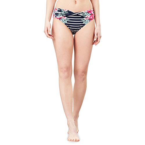 Joules Belle Bikini Bottoms UK 10 Reg Navy Stripe Floral