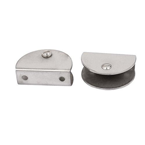 Aexit 2 Zwingen, Klemmen & Spanner Stück Edelstahl 9-14mm Dicke Glas Regal Clip Clamp Winkelspanner Halterung Unterstützung