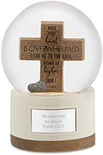 Things Remembered Personalized Wood Cross Snow Globe with Engraving Included