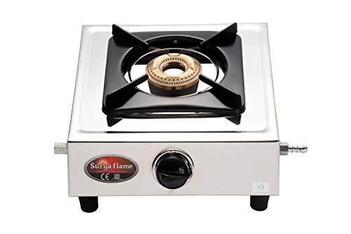 Surya Flame 1Burner Panther Stainless Steel Frame Body Manual...