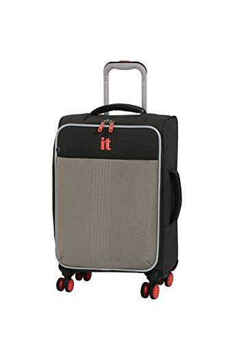 it luggage Filament 8 Wheel Lightweight Semi Expander Cabin Suitcase, 56 cm, 46 L, Grey Rhapsody