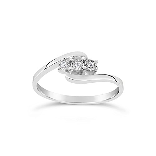 Anello Donna Fidanzamento Oro e Diamanti–Oro Bianco 9kt 375 Diamanti 0.03Carati Clicca su MILLE AMORI blu e scopri tutte le nostre collezioni