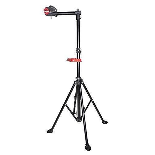 Mediawave Store - Supporto Cavalletto per Bicicletta 584897 Supporto da Montaggio e Manutenzione per Bicicletta Cavalletto per Riparazione Bici con Vassoio Attrezzi, Girevole a 360°