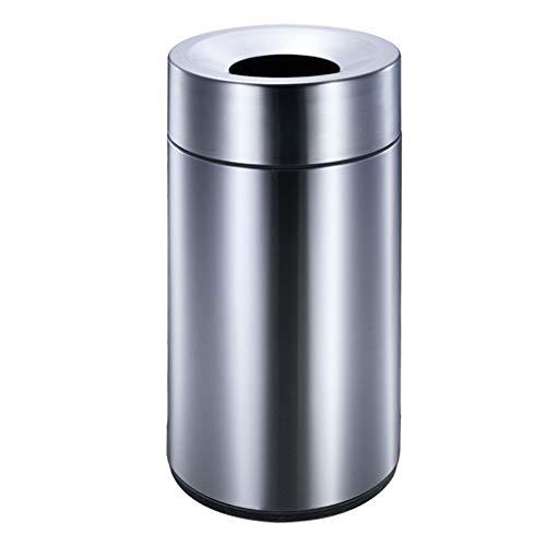Hogar contenedor de basura Bote de basura de acero inoxidable con cubo interior extraíble Cubo de basura redondo comercial Tienda de basura en el centro comercial del hotel al aire libre cubo de basur