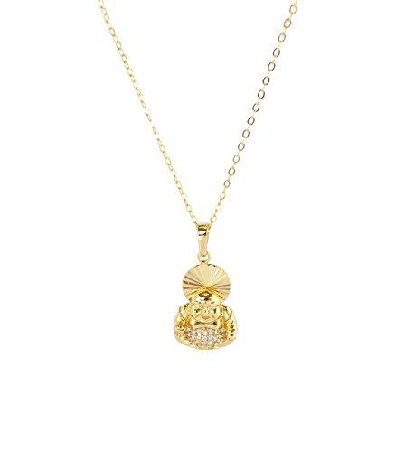 Remi Bijou - Statement necklace with pendant 'Buddha' yoga - gold colour.