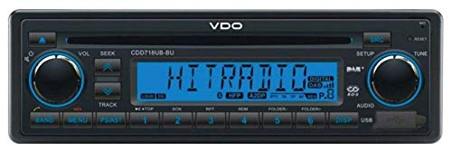 VDO CDD718UB-BU - CD/MP3-Autoradio mit Bluetooth / DAB / USB / AUX-IN