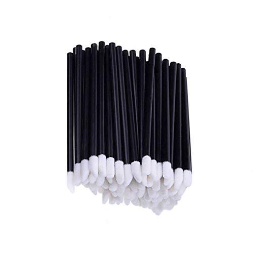 Lot de 50 pinceaux à lèvres jetables - Noir