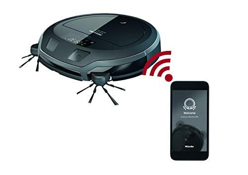 Miele Scout RX2 Home Vision Staubsauger Roboter – Roboterstaubsauger mit intelligenter Navigation, 4-stufigem Reinigungssystem & Live-Bildübertragung – 120 min Akkulaufzeit – graphitgrau