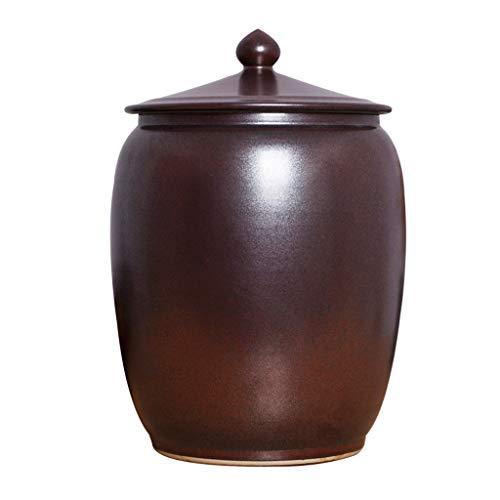 Contenitori per cereali Guarnizione di riso in ceramica a prova di umidità Vaso per vino per la casa con coperchio Barilotto di barilotto marinato cucina Contenitore per alimenti Contenitori per alime
