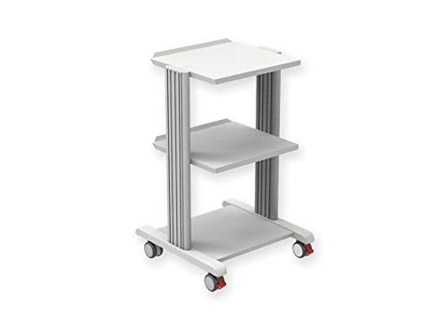 Carrello Trolley Smart 3, in alluminio e acciaio 2 Ripiani 50 x 50cm , h 76 cm