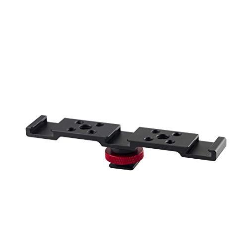 PULUZ Quádruplo Cold Hot Shoe adaptador microfone Flash Light Suporte de extensão de alumínio para DJI OSMO Mobile 2/Zhiyun Smooth 4/Feiyu Vimble 2 estabilizador gimbal