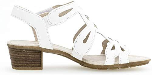 Gabor Damen Sandaletten 24.561.21, Frauen Sandaletten,Sommerschuhe,offene Absatzschuhe,hoher Absatz,Weiss,38 EU / 5 UK