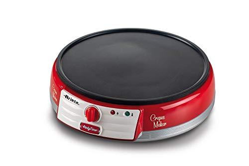 Ariete Maker Piastra elettrica per Crepes, 1000 W, Antiaderente, Rosso