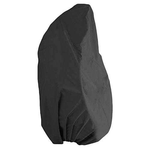 115X190Cm ExtéRieur ImperméAble à L'Eau Anti-Uv Polyester Suspendu Chaise De Protection Pour La Maison Balcon Patio Noir