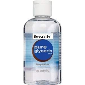 Buycrafty Glycerine (Glycerol) líquido 200 ml, ideal para hacer tus propios productos de belleza para el cabello y la piel