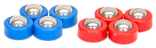 Carrom Shuffleboard Equipment Set, Red/Blue