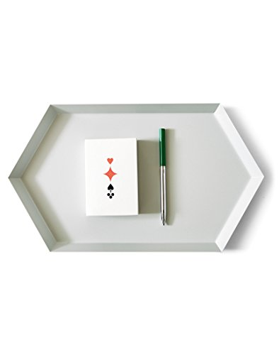 HAY Kaleido M Ablage/Tablett, grau 33,5x19,5cm