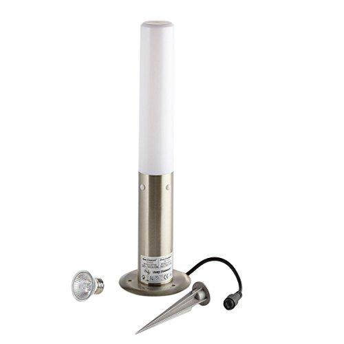 Borne cylindrique Inox 45cm BOLLARDS E27 IP44 éxterieur EASY CONNECT ampoule fournie - 64040