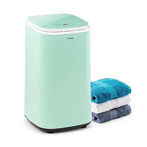 KLARSTEIN Zap Dry Secadora, 820 W, Capacidad: 50 L, diseño UniqueDry, más compacta, Tambor de Acero Inoxidable, Carcasa de plástico, Controles táctiles, Tapa de Seguridad, Pantalla LED, Verde