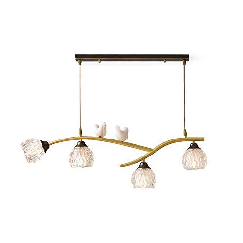 KFDQ Household Chandeliers,All Copper Water Ripple Chandelier Nordic Creative Ceiling Light Resin Bird Pendant Light for Dining Room Bar Living Room Bedroom(Gold) Copper 83 * 29Cm(33 * 11Inch)