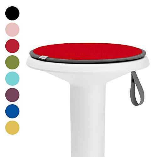 Interstuhl® UPis1 Premium Sitzkissen - Besonders bequemes Stuhlkissen perfekt geeignet für Hocker, Stühle, Bänke und Fußböden (Standard Edition, Himbeerrot)
