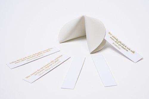 Biscotto della fortuna in porcellana, i cocci portano fortuna, biglietti da scrivere più 7 messaggi prestampati, ideale per matrimoni, addio al celibato/nubilato, feste, eventi aziendali, capodanno, proposte di matrimonio.