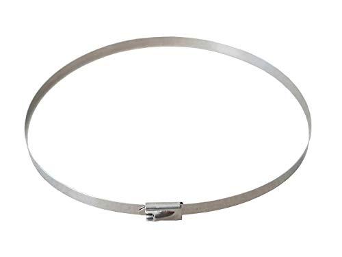 Metall Kabelbinder 200/300/400/500/600mm Edelstahl Größe/Menge bitte wählen, Menge:100 Stueck, Größe:4.6 mm x 500 mm