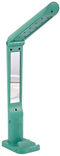 Aplique de metal Lámpara de escritorio Lámparas de mesa de cuidado de ojos LED Portátil 2 Modos de iluminación Control táctil USB Carga de carga Doble Luz de cama para estudio, lectura, oficina y dorm