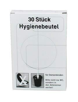 1500 Stück Hygienebeutel für Damenbinden (50 Packungen je 30 Stück)