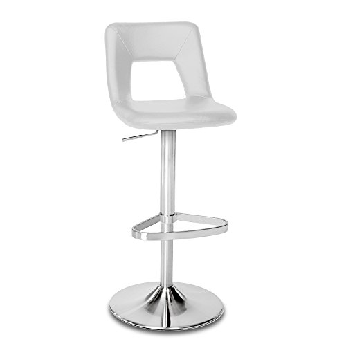 Zuri Furniture Grey Jazz Adjustable Height Swivel Armless Bar Stool