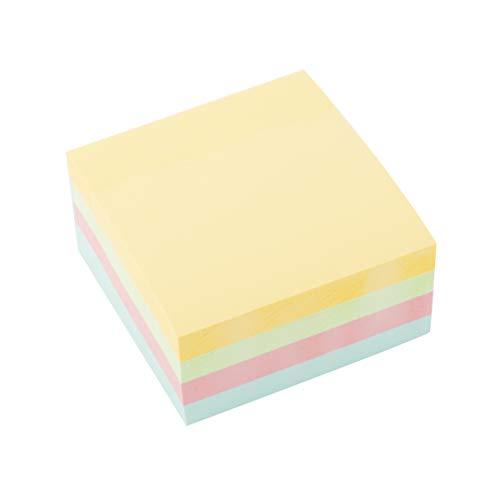 D.RECT - Notas adhesivas 76x76mm, Cubo de 400 hojas, Color pastel, 9327