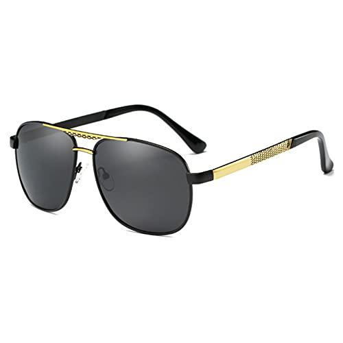 YUANCHENG Gafas de Sol Retro polarizadas Hombres Que conducen Gafas de Sol Gafas de Sol piloto
