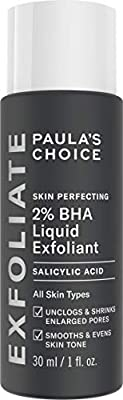 Paula's Choice Skin Perfecting 2% BHA Salicylic Acid Liquid Exfoliant - Face Exfoliating Peel Fights Blackheads, Breakouts & Enlarged Pores - Combination, Oily & Acne Prone Skin - 30 ml by