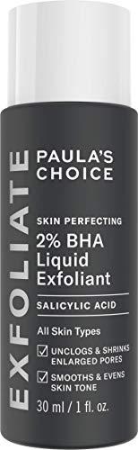 Paula's Choice Skin Perfecting 2% BHA Lotion Exfoliant - Peeling Anti Rides, Points Noirs & Pores Dilatés - avec Acide Salicylique - Peaux Mixtes à Grasses - Taille de Voyage - 30 ml