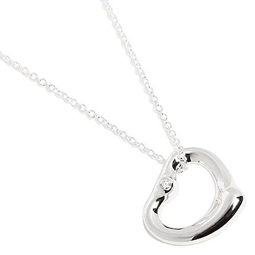 [ティファニー] ネックレス 18967359 エルサ・ペレッティ ダイヤモンド オープンハート SS SM 2ダイヤ 16IN [並行輸入品]