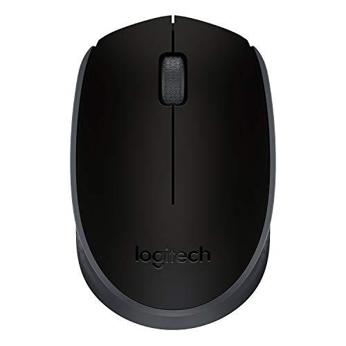Logitech M171 Kabellose Maus, 2.4 GHz Verbindung via USB-Empfänger, Optischer Sensor, 12-Monate Akkulaufzeit, Für Links- und Rechtshänder, 3 Tasten, PC/Mac - schwarz