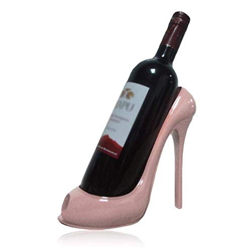 COLiJOL Innovative High-Heeled Wine Shelf Resin Wine Bottle Home Living Room Display Stand Hotel Table Decoration Wedding Ornament,Color,Champagne,Rose Gold