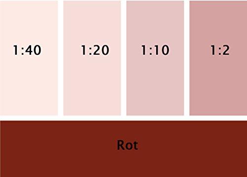 Silikat Vollton- & Abtönfarbe rot 250 ml
