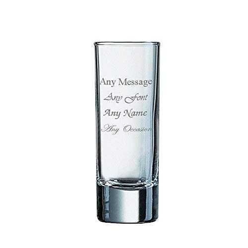 Vaso de chupito personalizable de 60 ml de alto con base pesada para boda, cumpleaños, Navidad