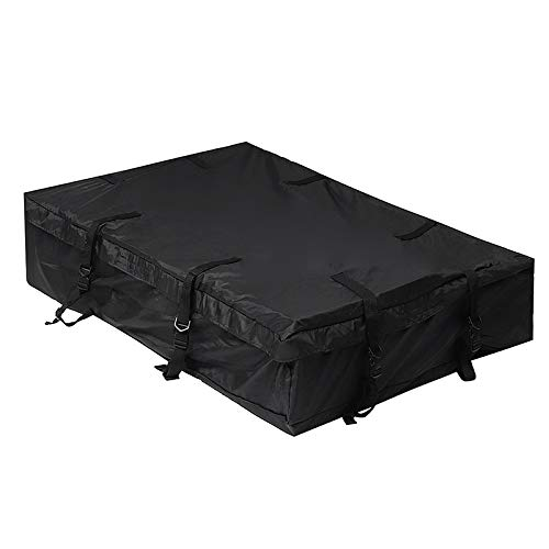 SEHNL Car Roof Bag Waterproof Car Roof Top Bag Travel Cargo Luggage Carrier Black 160x100x30cm Super-Large Ployester Top Luggage Rack Cargo Trunk Luggage Storage Holders
